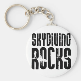 Skydiving Rocks Basic Round Button Key Ring