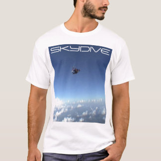 skydiving skydive parachute clouds night shirt