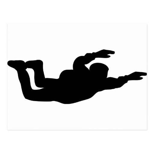 skydiving skydiver icon post card