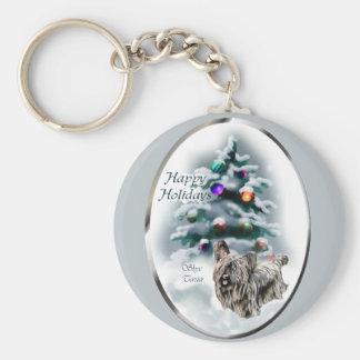 Skye Terrier Christmas Gifts Key Ring