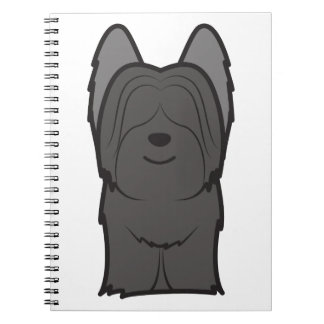 Skye Terrier Dog Cartoon Notebook