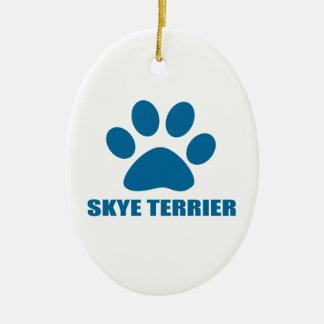 SKYE TERRIER DOG DESIGNS CERAMIC ORNAMENT