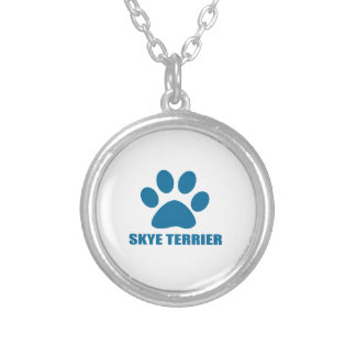 SKYE TERRIER DOG DESIGNS SILVER PLATED NECKLACE