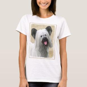 Skye Terrier Painting - Cute Original Dog Art T-Shirt