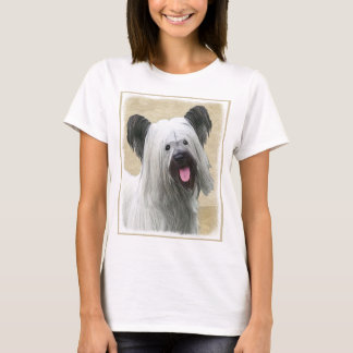 Skye Terrier Painting - Cute Original Dog Art T-Shirt