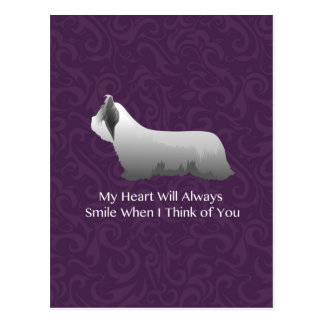 Skye Terrier Thinking of You Design Postcard