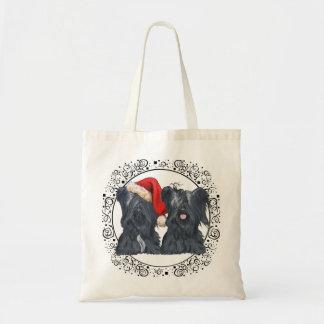 Skye Terriers Waiting for Santa Budget Tote Bag
