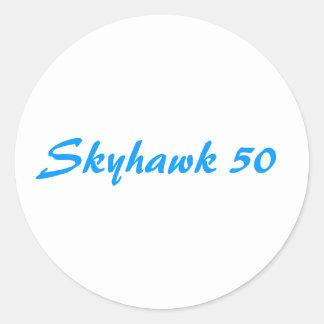Skyhawk 50 classic round sticker
