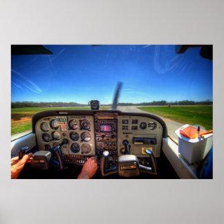 Skyhawk Cockpit in HDR Poster