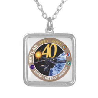 SKYLAB:  40th Anniversary Logo! Silver Plated Necklace