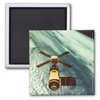 Skylab Space Station in Space Square Magnet