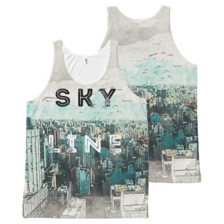 Skyline Art All-Over Print Singlet