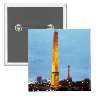 Skyline at dusk of Place de la Concorde with Buttons