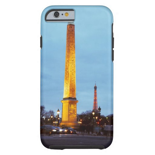 Skyline at dusk of 'Place de la Concorde' with iPhone 6 Case