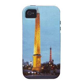 Skyline at dusk of 'Place de la Concorde' with iPhone 4/4S Case