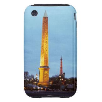 Skyline at dusk of 'Place de la Concorde' with Tough iPhone 3 Case