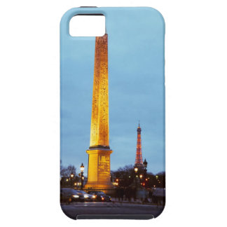 Skyline at dusk of 'Place de la Concorde' with iPhone 5 Cases