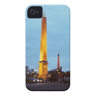 Skyline at dusk of 'Place de la Concorde' with iPhone 4 Case-Mate Cases