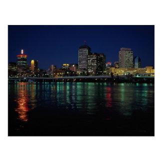 Skyline at night, Brisbane, Queensland, Australia Postcard