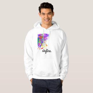 Skyline Color Splash Men's Hoodie