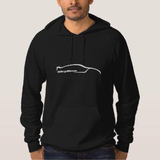 Skyline GT-R White Silhouette Hoodie