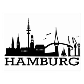 Skyline Hamburg Postcard