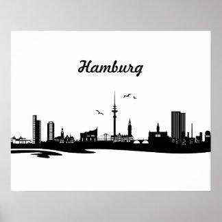 Skyline Hamburg Poster