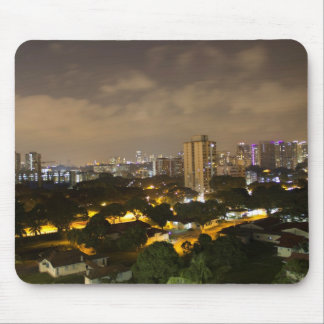 Skyline of a part of Singapore Mouse Pads