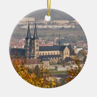 Skyline of Bamberg, Germany Ceramic Ornament