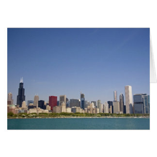 Skyline of Chicago, Illinois, USA. Greeting Cards