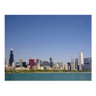 Skyline of Chicago, Illinois, USA. Postcard