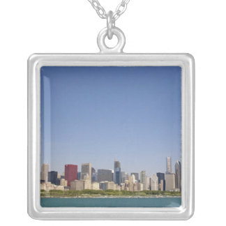 Skyline of Chicago, Illinois, USA. Square Pendant Necklace