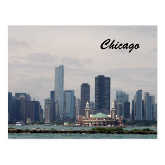Skyline of Chicago Postcard