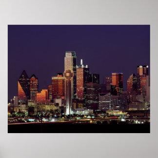 Skyline of Dallas, Texas Poster