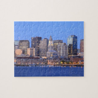 Skyline of downtown Boston from inner Boston Jigsaw Puzzle