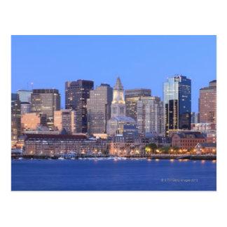 Skyline of downtown Boston from inner Boston Postcard