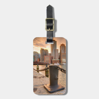 Skyline of Financial District of Boston Luggage Tag