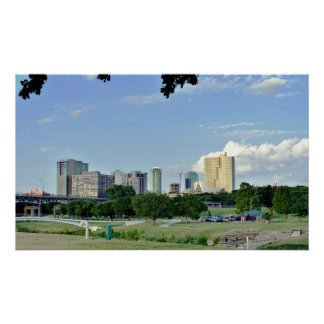 Skyline of Fort Worth, Texas Poster