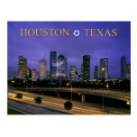 Skyline of Houston, Texas at dusk