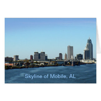 Skyline of Mobile, AL Greeting Card
