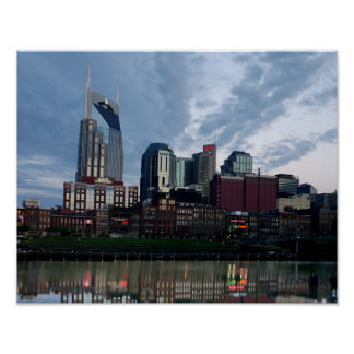 Skyline of Nashville Poster