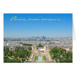 Skyline of Paris Card