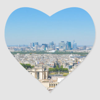Skyline of Paris Heart Sticker