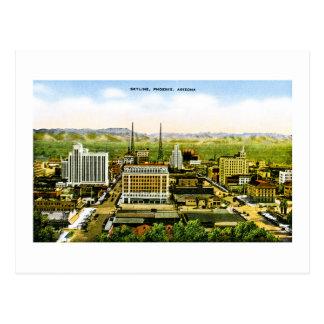 Skyline of Phoenix, Arizona Retro Americana Postcard