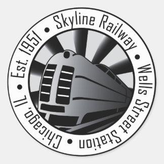 Skyline Railway Round Sticker