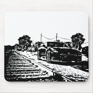 Skyline Train Tracks shot Mouse Pad