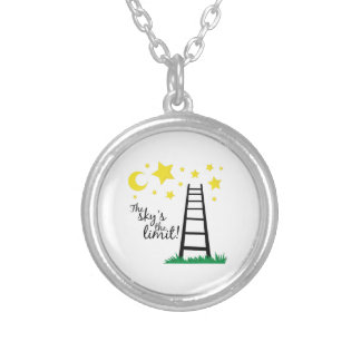 Skys the Limit Round Pendant Necklace