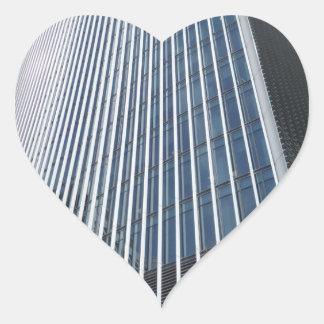 Skyscraper Front Structure Heart Sticker