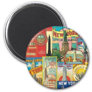 Skyscraper of New York 6 Cm Round Magnet