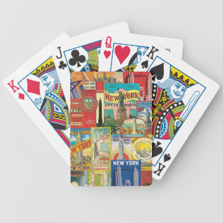 Skyscraper of New York - Letters of poker Bicycle Playing Cards